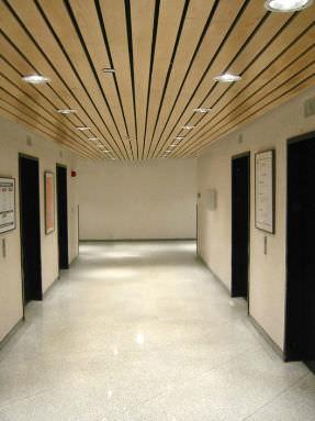 falso techo de madera en lminas linear rulon company