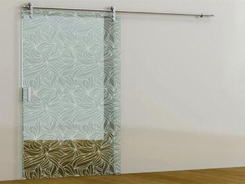 puerta de interior corredera de vidrio i