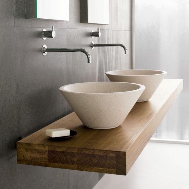 Encimera de lavabo de madera maciza - MOOD SERIES by nespoli e ...