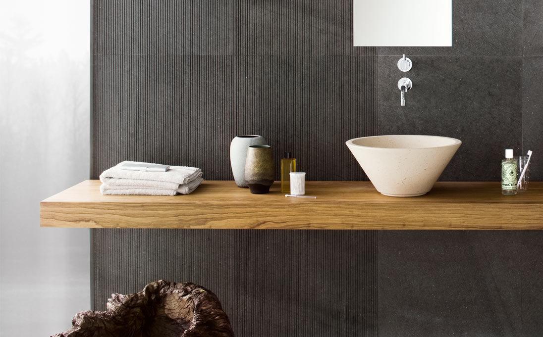 encimera de lavabo de madera maciza mood series by nespoli e novara neutra by arnaboldi angelo