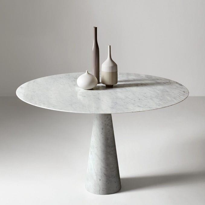 Mesa de comedor / moderna / de vidrio / de piedra   leaf series by ...