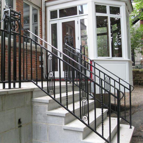 barandilla de hierro forjado con barrotes de exterior para escalera king
