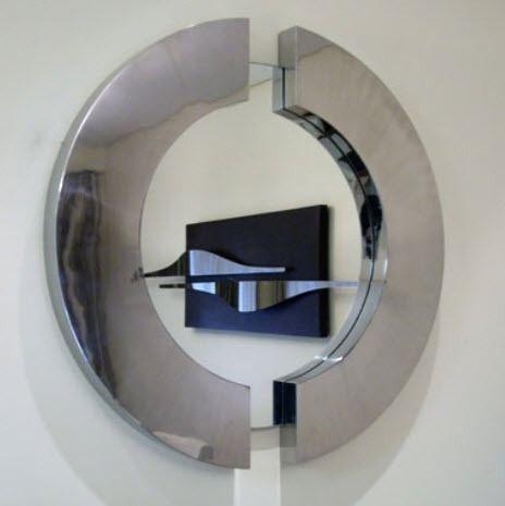 espejo de pared moderno de metal
