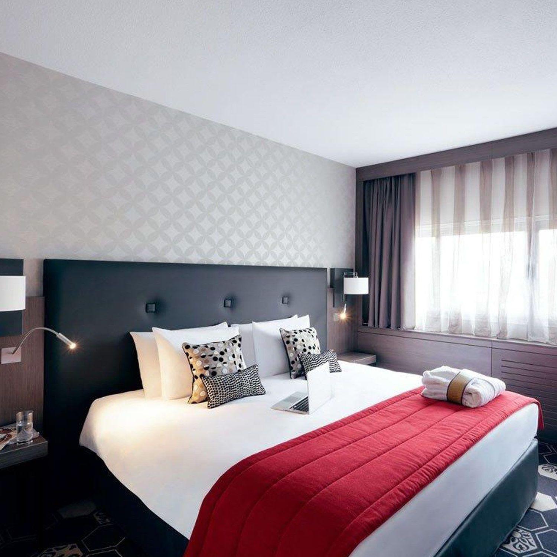 cabecero para cama doble moderno de madera tapizado marly collinet siges