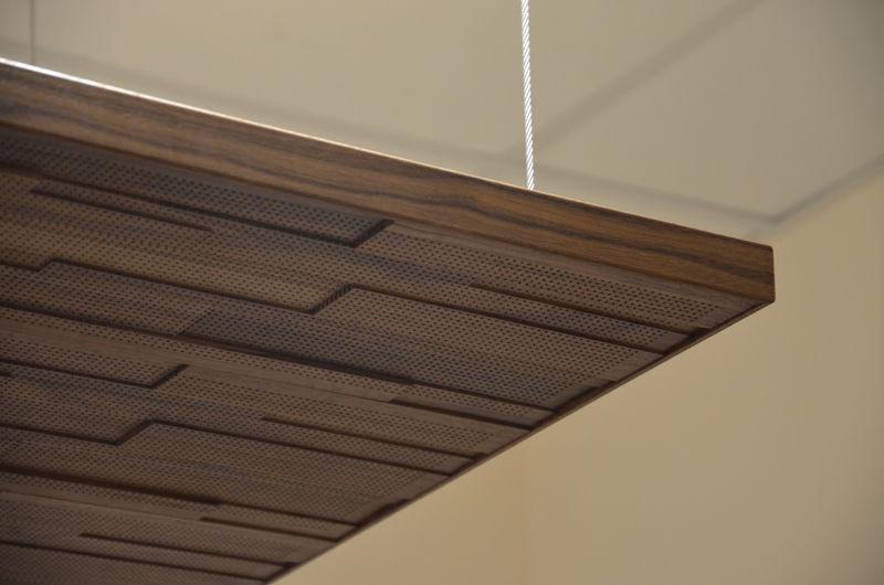 Panel Acustico Para Interiores Para Techo Para Muro Interior - Techos-de-madera-para-interiores