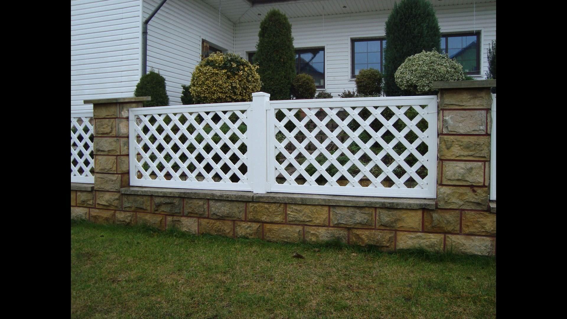 Valla De Jardin De Pvc Pergola Grid Skew Fence Top Fence
