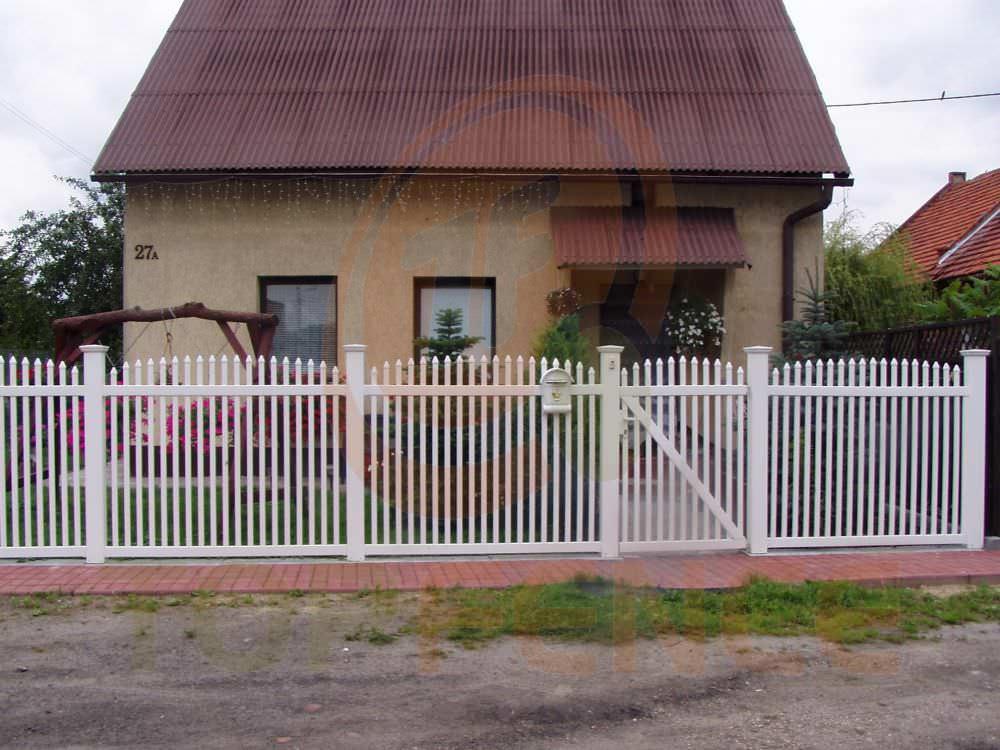 valla de jardn de pvc traditional arch over top fence