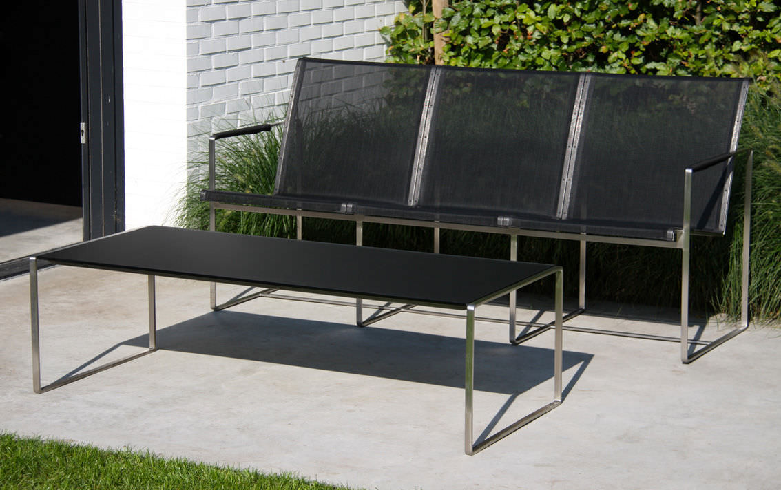 Sofá moderno / de jardín / de Batyline® / de acero inoxidable ...