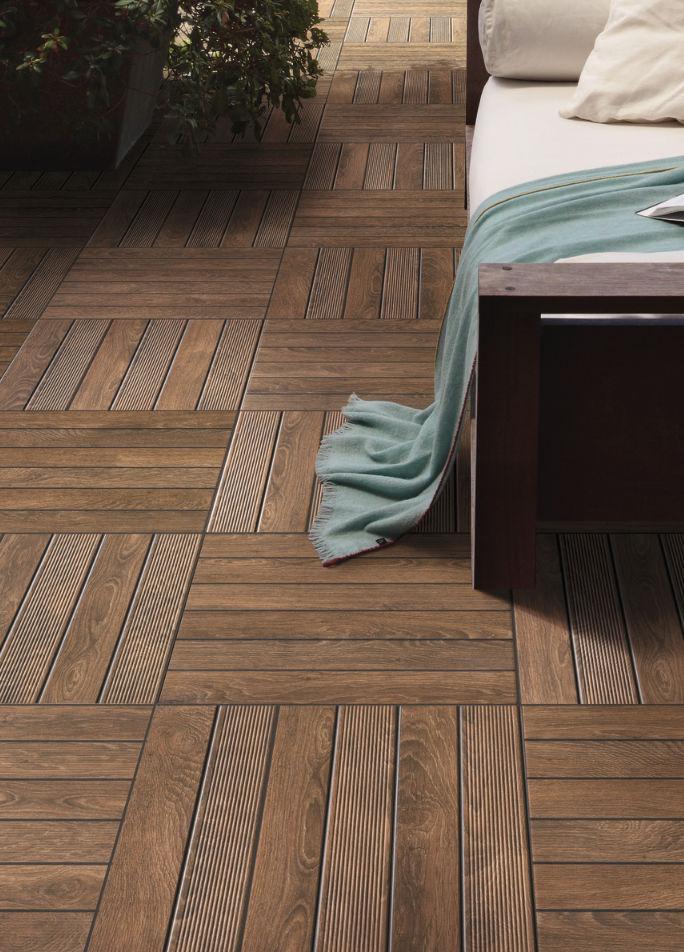 baldosa de exterior para pavimento de cermica con motivos deck kale