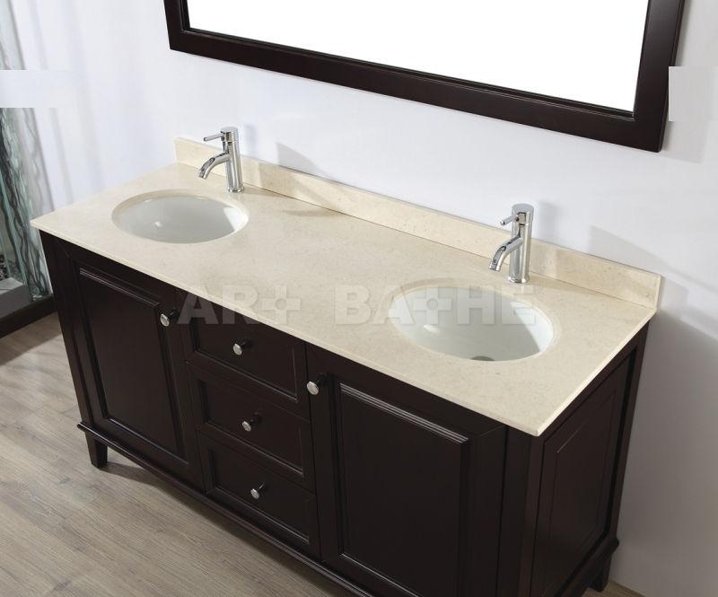 Mueble de lavabo doble / de pie / de madera / moderno   lily 63 ...