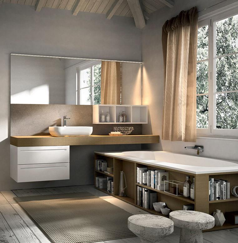 Encimera de lavabo de piedra / de madera - KER - Agorà Group - Vídeos
