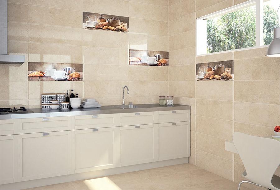 baldosa para cocina de pared de cermica con motivos florales biselado majestic