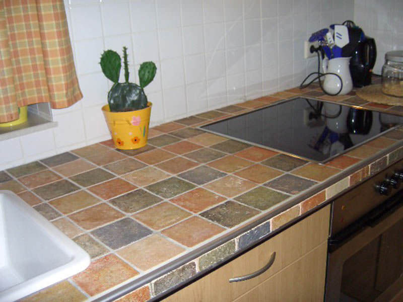 Baldosa de interior para cocina de suelo de terracota
