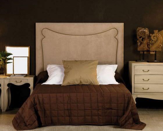 cabecero para cama doble clsico de tela tapizado forma