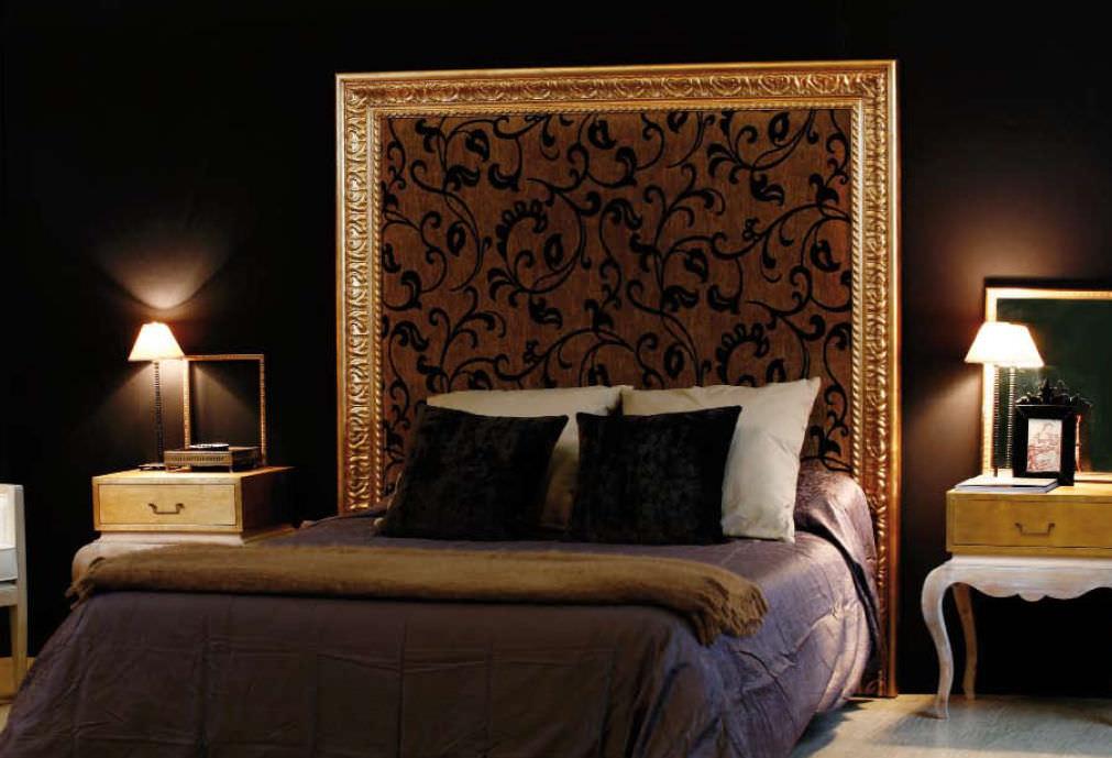 cabecero para cama doble de estilo de tela cuadro