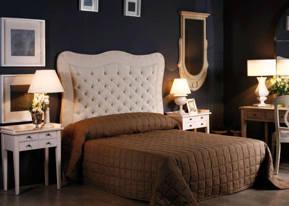 cabecero para cama doble clsico de tela tapizado sergi