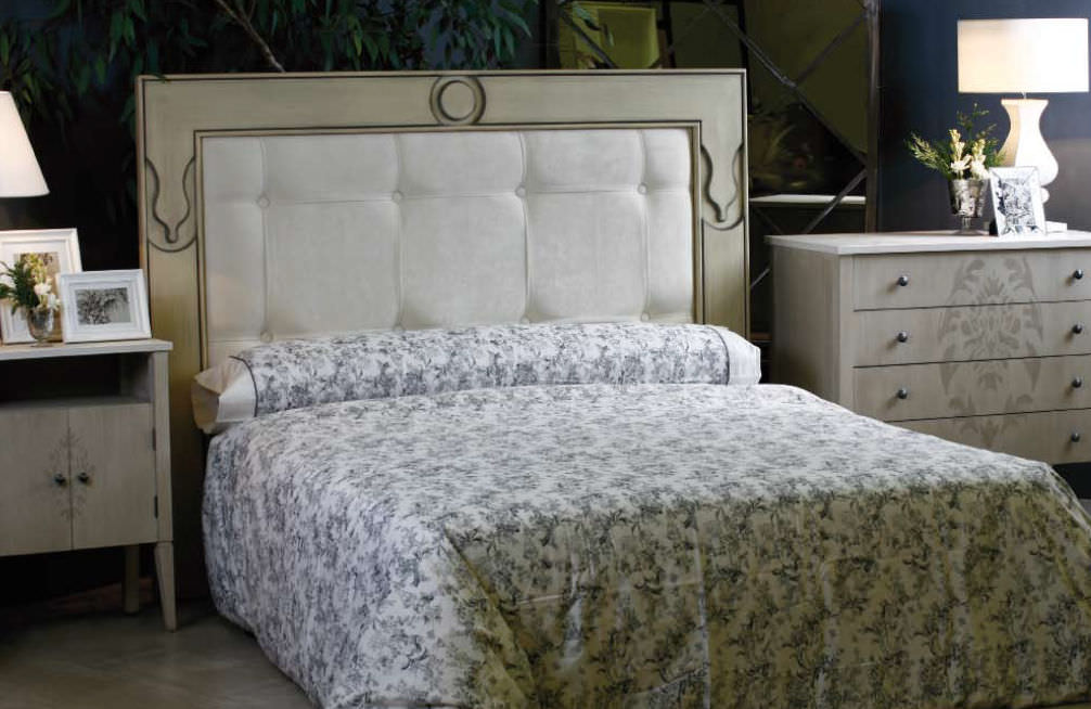 cabecero para cama doble clsico de tela tapizado adorno
