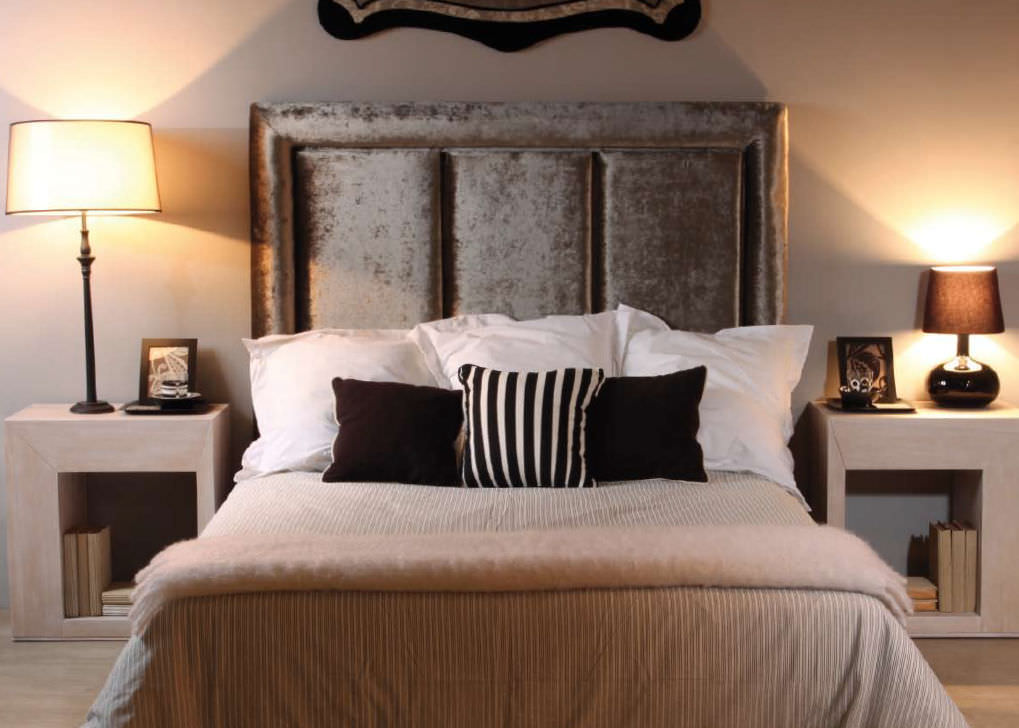 cabecero para cama doble clsico de tela tapizado streets