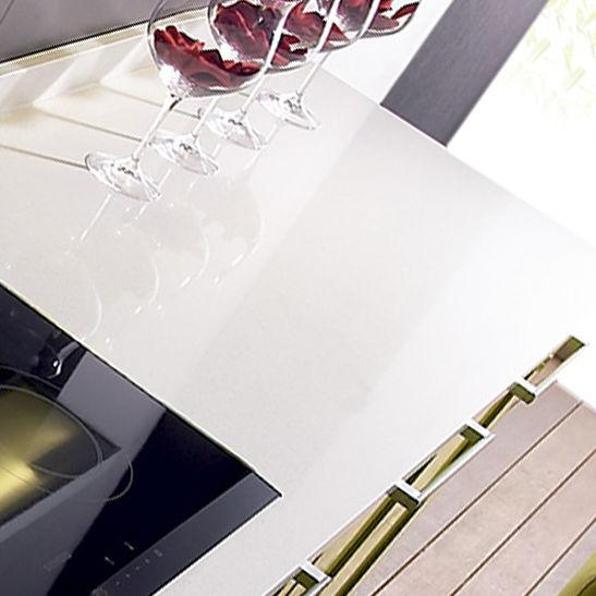 encimera de compuesto de cuarzo para cocina luna compac the surfaces company