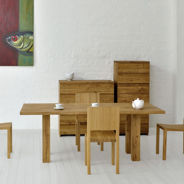 Mesa de comedor moderna / de roble / de nogal / de madera maciza ...