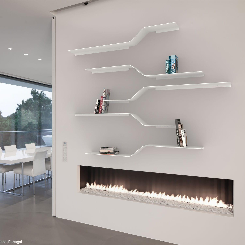 Estantera mural modular de diseo minimalista de aluminio