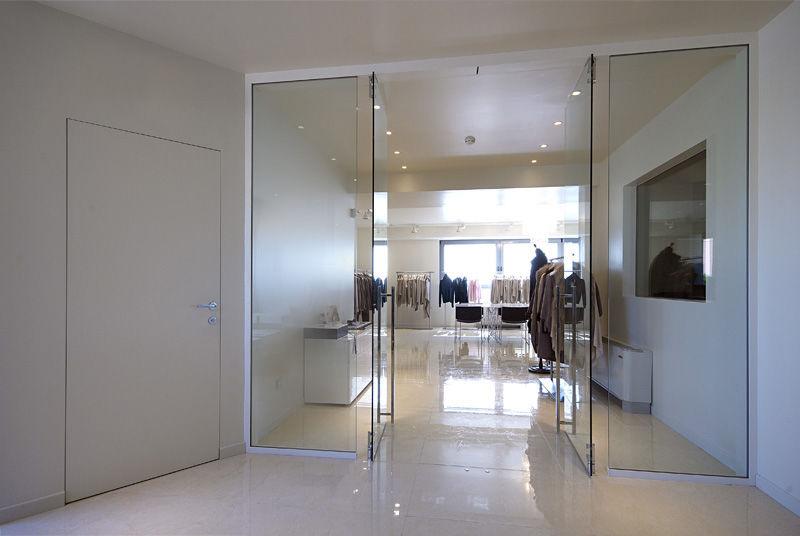 Puerta De Interior Abatible De Vidrio Doble Pucci Saoro