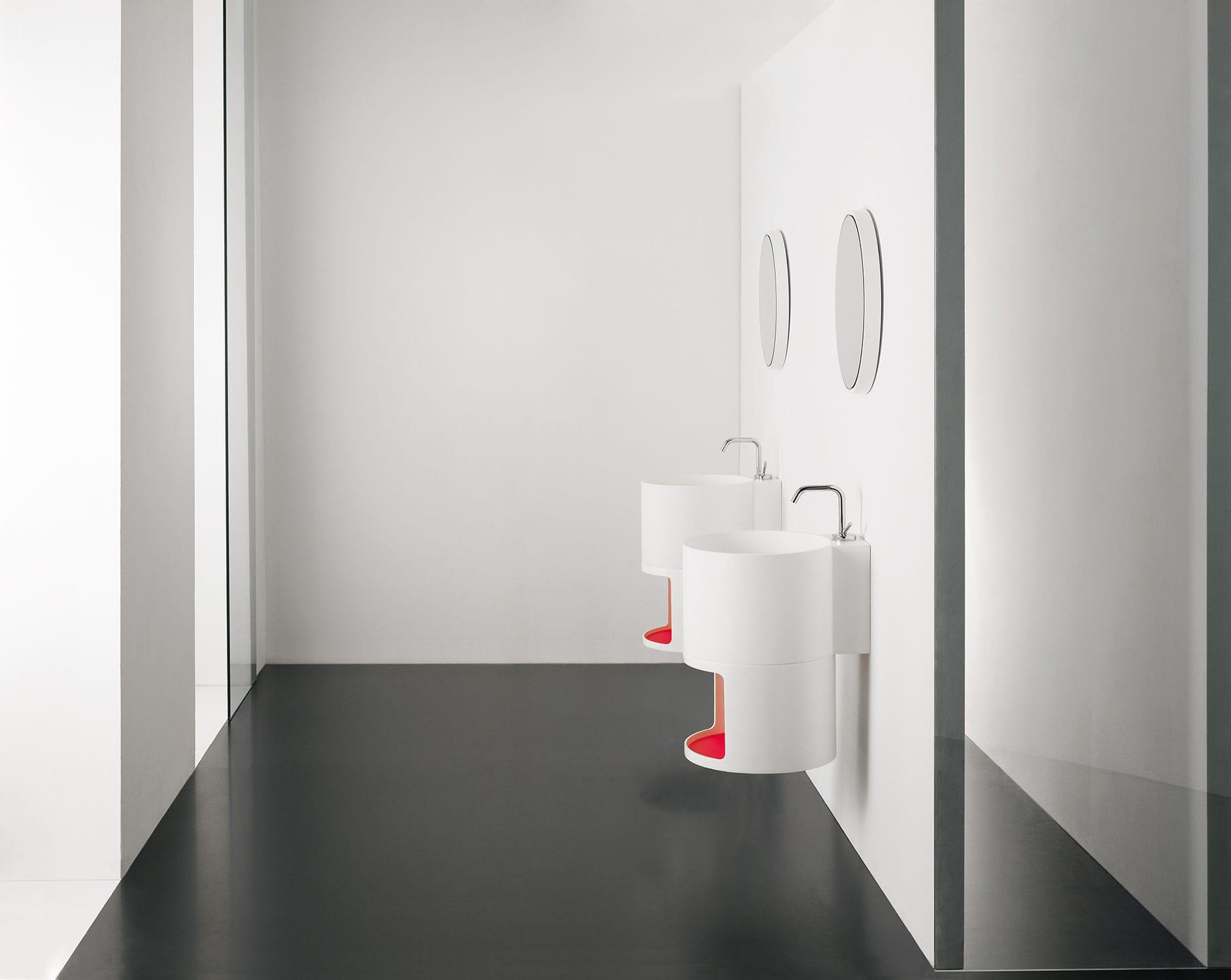 mueble de lavabo suspendido / de mineral compuesto / de diseño ... - Muebles De Lavabo De Diseno