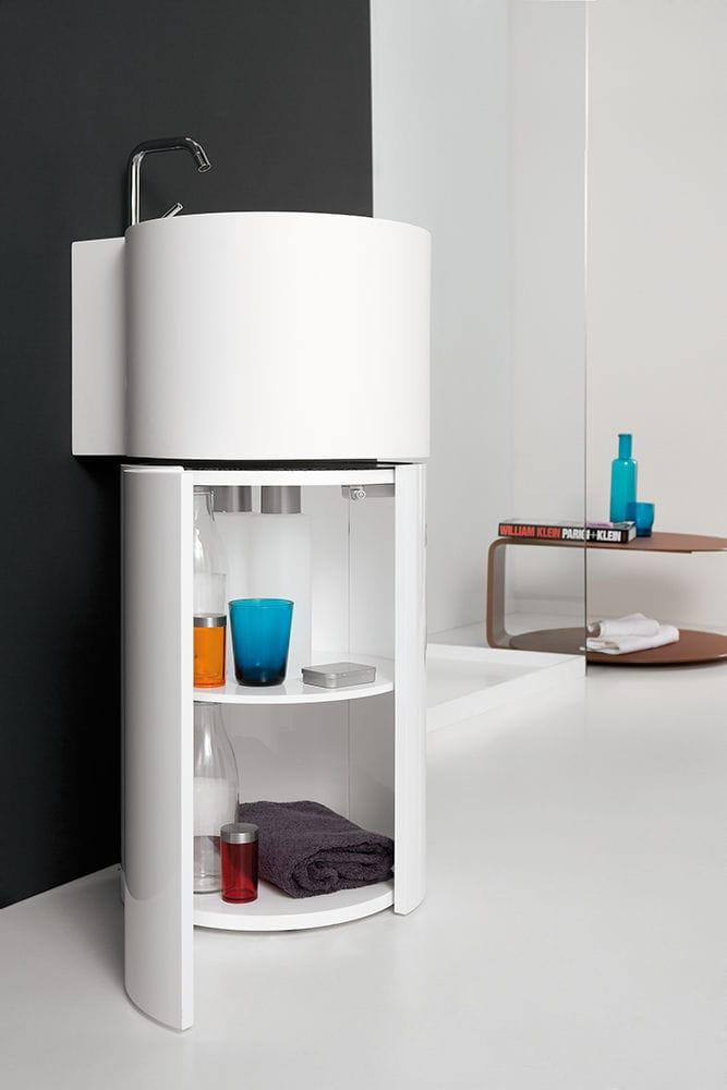 mueble de lavabo de pie / de mineral compuesto / de diseño / con ... - Muebles De Lavabo De Diseno