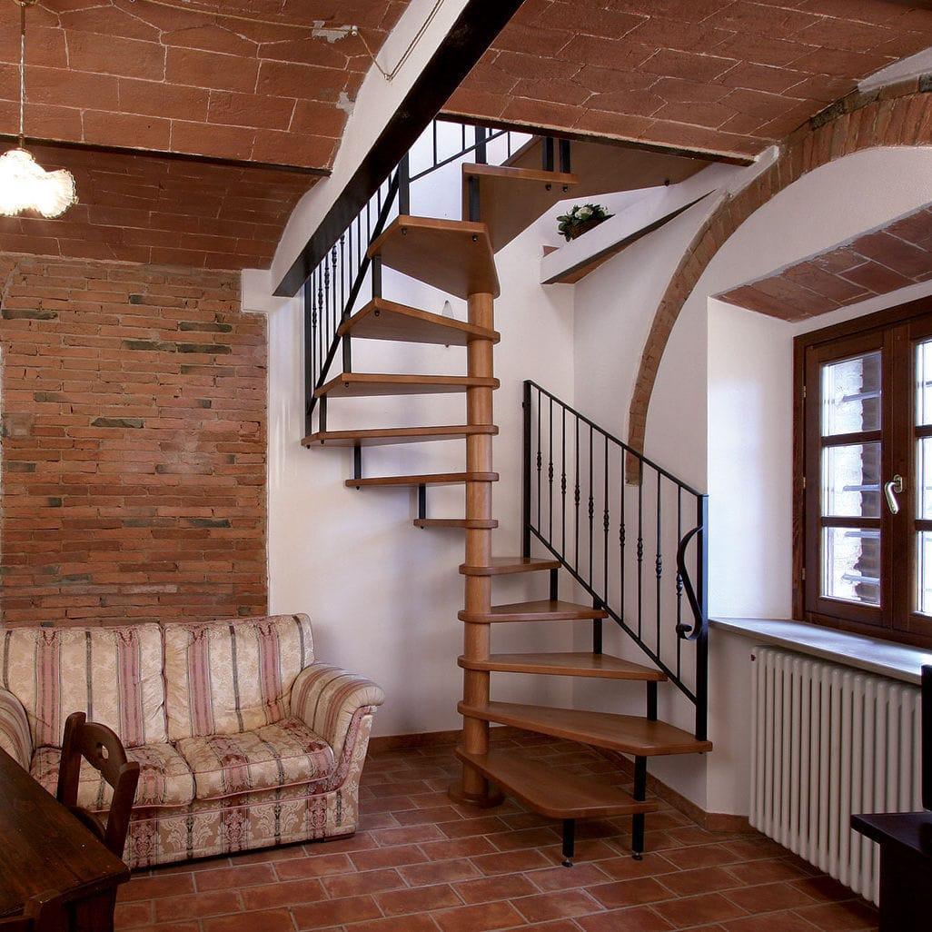Vistoso Escaleras De Caracol De Madera Para Interiores Componente ...