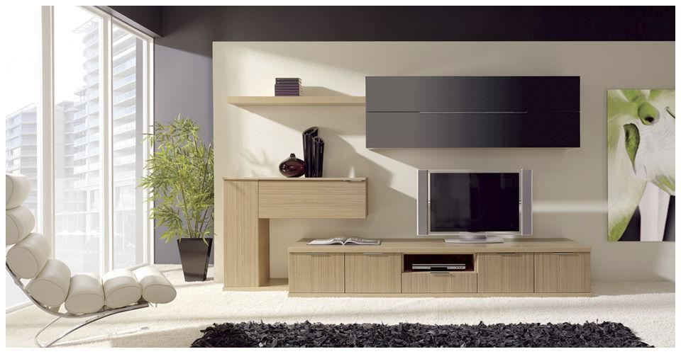 Mueble TV moderno de madera MILENIUM 23 7904 Baixmoduls