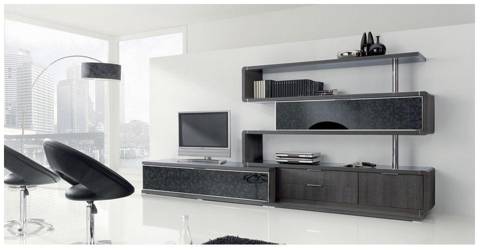 Mueble TV moderno / de madera / de madera lacada - MILENIUM 23 ...