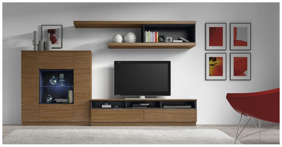 Mueble TV moderno de madera ELI 8912 Baixmoduls