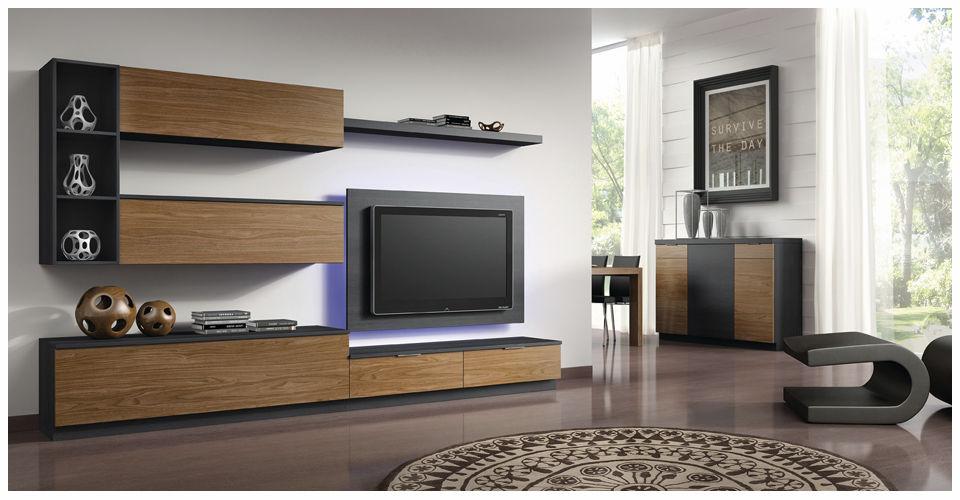 mueble tv moderno de madera eli