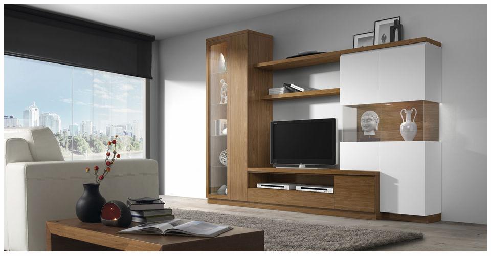 Mueble TV moderno de madera ROMA 3953 Baixmoduls