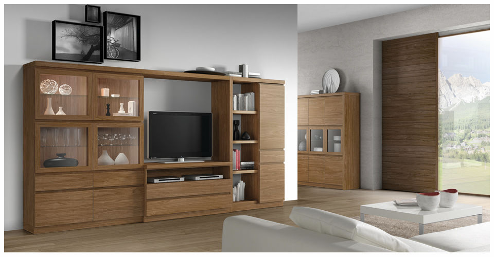 Mueble TV moderno de madera ROMA 3957 Baixmoduls
