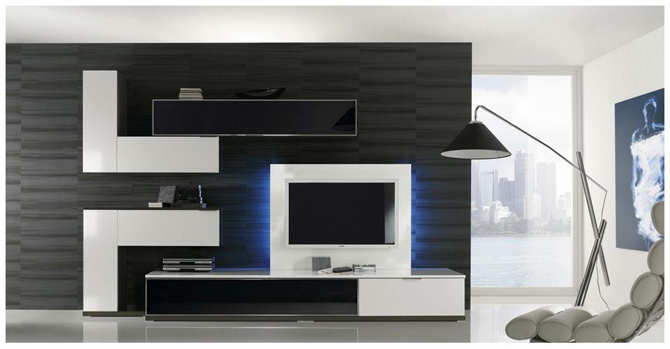 Mueble TV moderno de madera lacada MILENIUM PLUS 4713 Baixmoduls