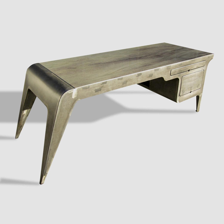 escritorio de metal patinado de granito de diseo original profesional miss molly ici