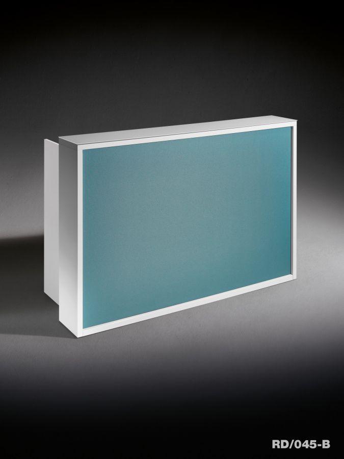 Mostrador de recepción laminado / de cuero / de Plexiglas® / con luz ...