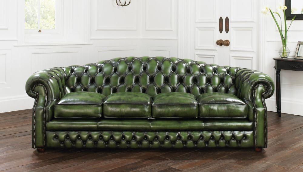 Sofá cama / de estilo / de cuero / 4 plazas - BUCKINGHAM ...