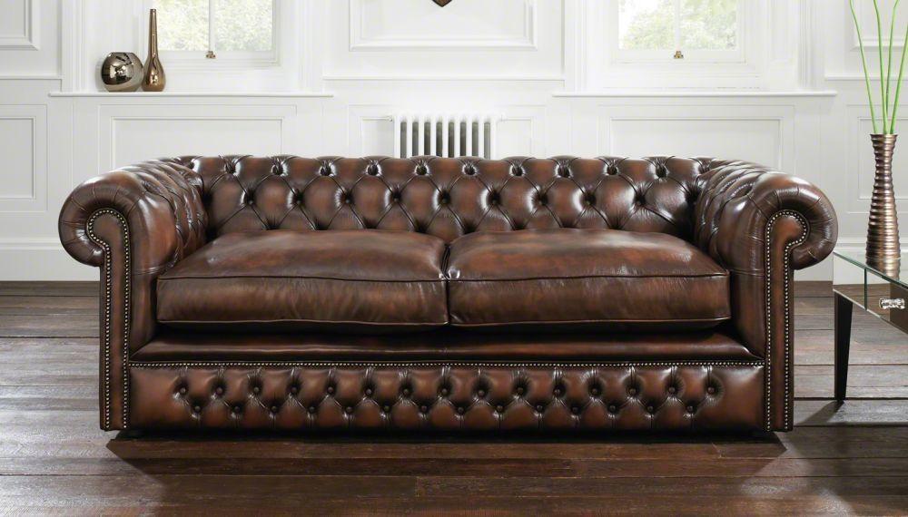 Sofá cama / de estilo / de cuero / 2 plazas - HOLYROOD - distinctive ...