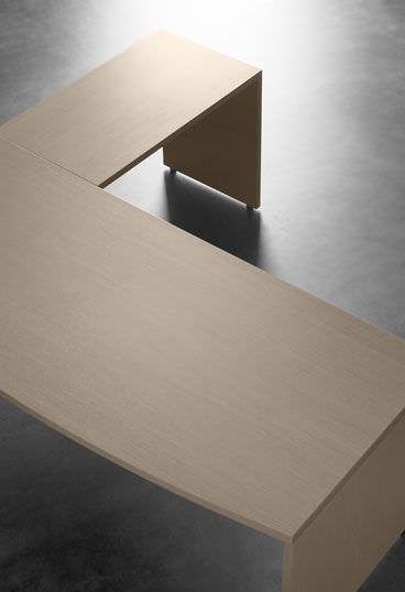 escritorio de madera moderno profesional de esquina blok by id