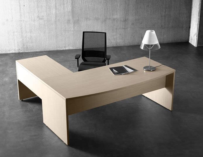 escritorio de madera moderno profesional de esquina blok by idi forma