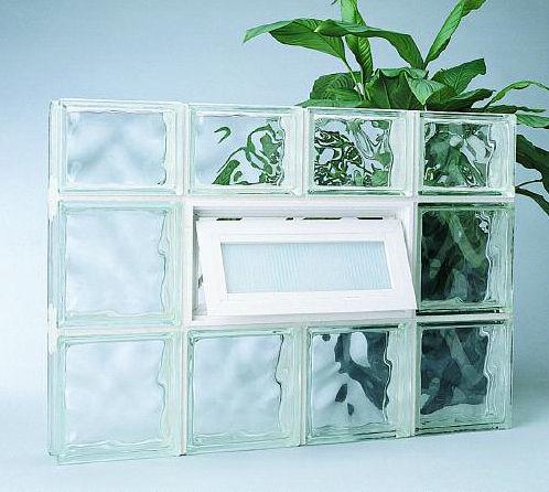ladrillo de vidrio cuadrado estructura a medida guardwise