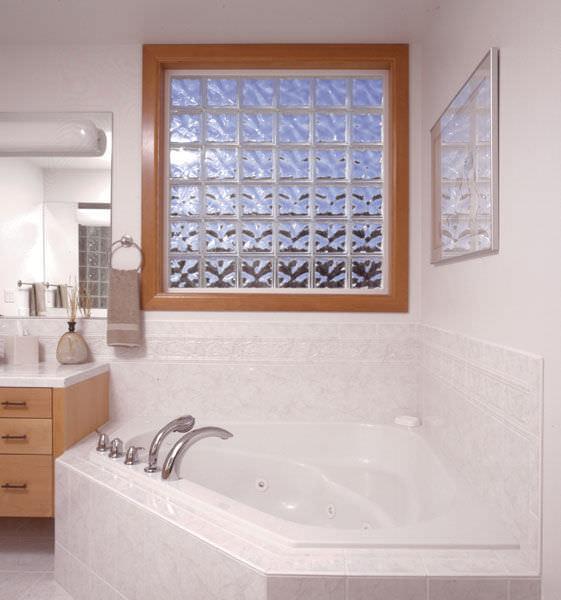 ladrillo de vidrio cuadrado estructura elevada luminosa premiere decora