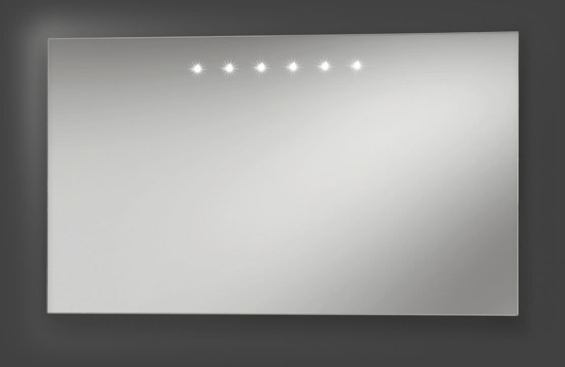 espejo de pared moderno rectangular con luz led artelinea