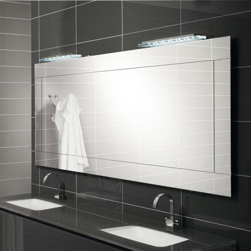 Espejo para baño de pared / con luz LED / moderno / rectangular ...