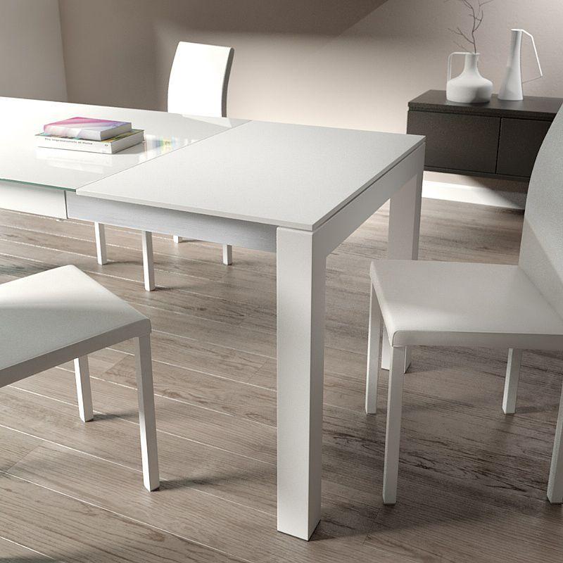 Mesa moderna / de madera / de vidrio templado / rectangular ...