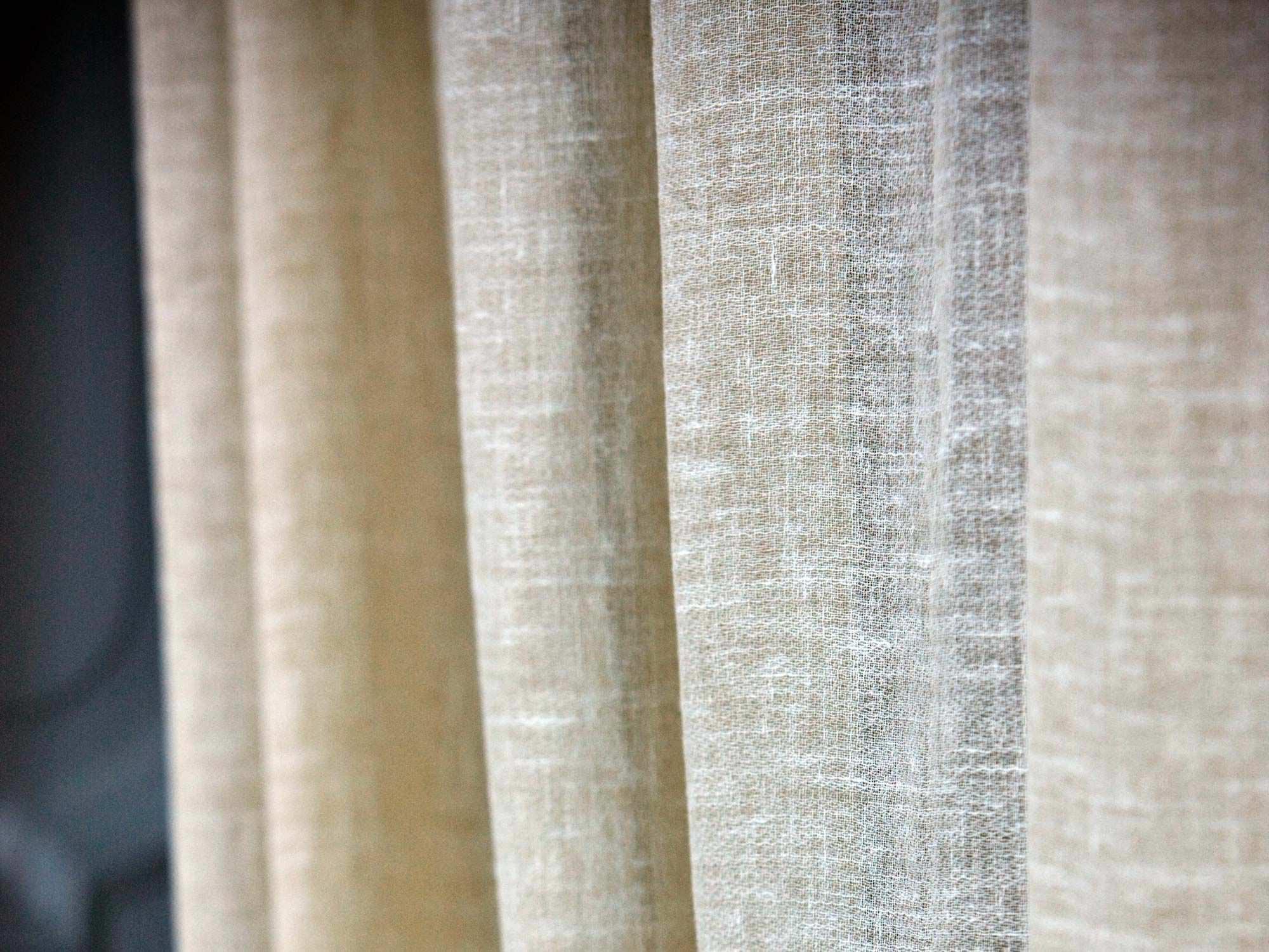 tela para cortinas de color liso de lino light linolana - Cortinas Lino