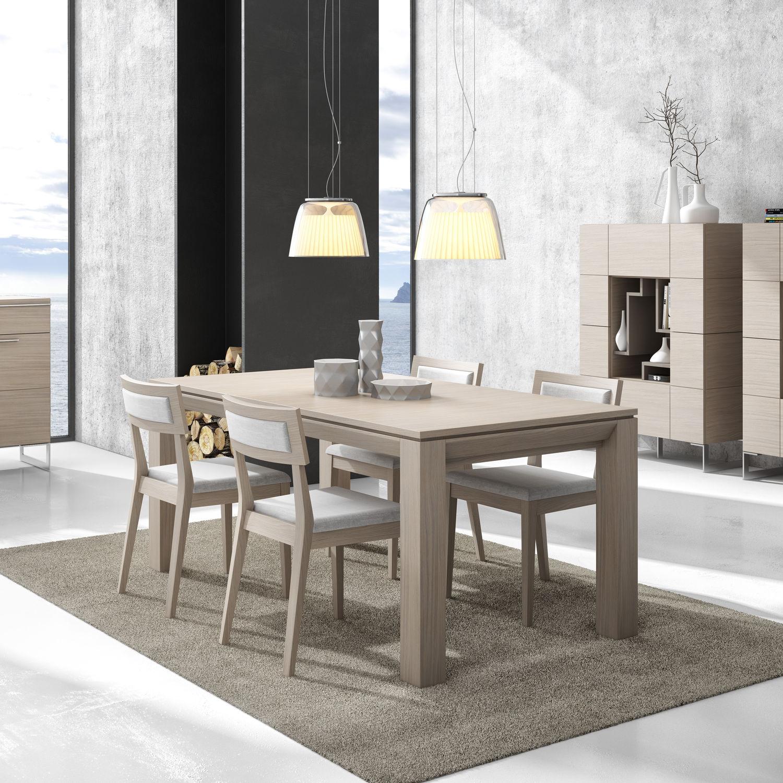 Mesa de comedor moderna / de madera / rectangular - GINZA + : 322 ...