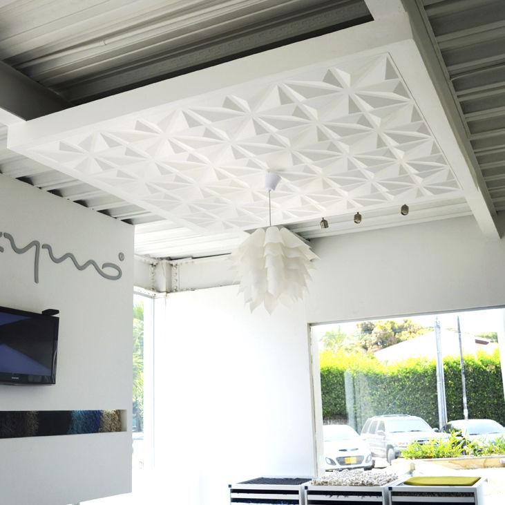 Panel decorativo de bamb para falso techo de pared 3D